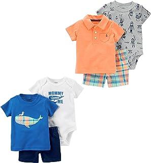 Carters Baby Boys 6-Piece Bodysuit Tee and ...