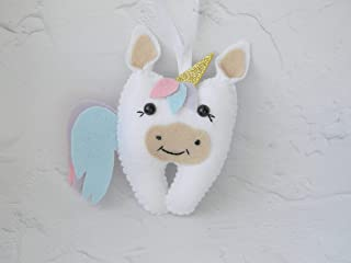 Unicorn Tooth Fairy Pillow Girl tooth fairy pillow Personalized tooth fairy pillow lost tooth Dentist gift Tooth pouch Unicorn Plush toy
