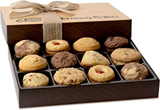 Granny Bella's Christmas Cookie Gift Baskets, 30 Gourmet Cookies, Family Holiday Assortment Food Birthday Gifts, Prime Unique Box Delivery for Men and Women Mother Father Thanksgiving & Valentines Day