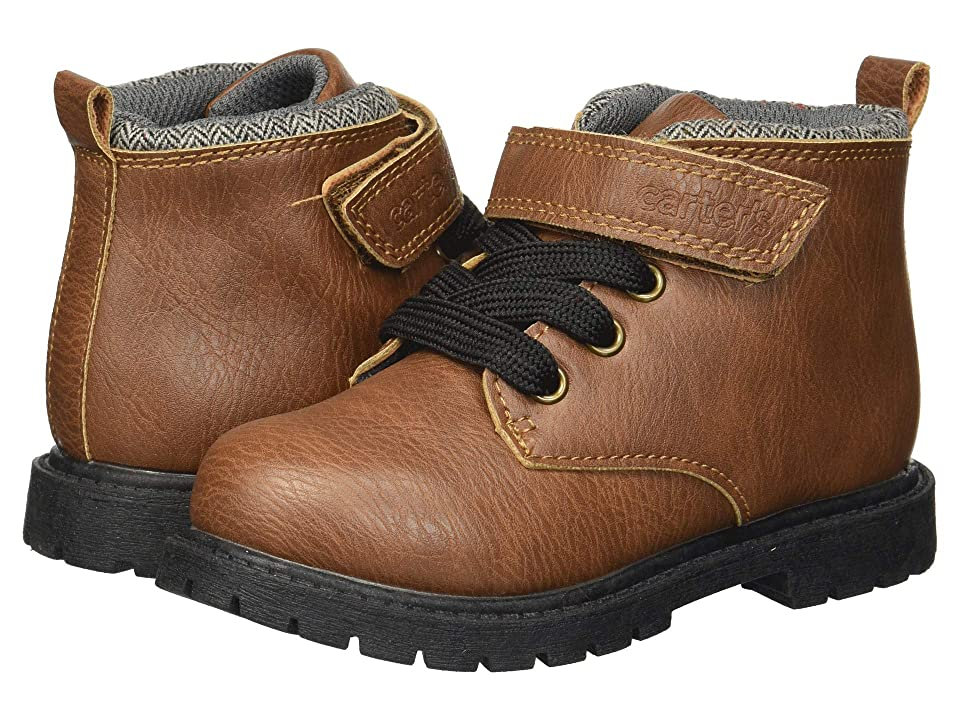 Carters Baxter 2 (Toddler/Little Kid) (Brown PU) Boy
