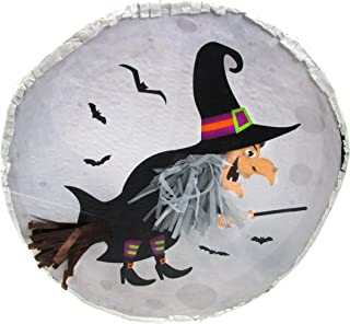 Witch on Moon Pinata - Halloween Party Game, Photo Prop and Decoration