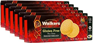 Walkers Shortbread Gluten-Free Shortbread Rounds Cookies, 4.9 Ounce Box (Pack of 6)