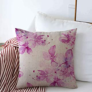 Starookc Pillow Case Media Delicate Blooming Lilacs Drips Flower Spray Paint Watercolor Souvenirs Design Sketch Farmhouse Decor Throw Pillows Covers 16