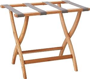 Wooden Mallet Designer Curve Leg Luggage Rack, Light Oak