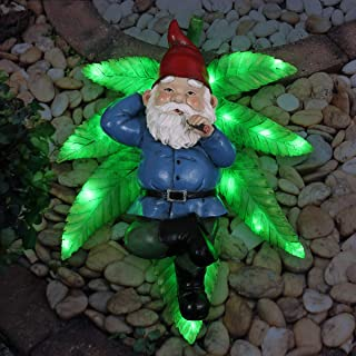 Exhart Good Time Ganja Lounging LED Gnome with Timer, 13 inches Long
