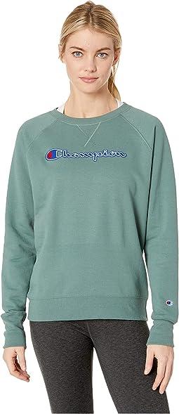 Powerblend® Fleece Boyfriend Crew - Applique Y07461