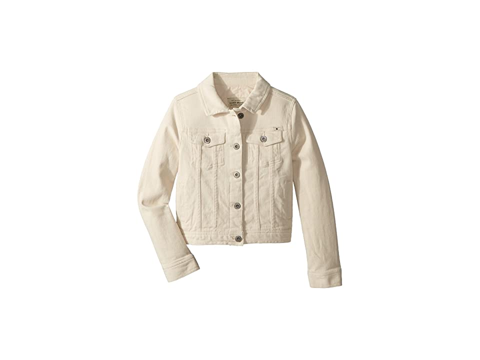 Lucky Brand Kids Brianna Denim Jacket in Natural (Big Kids) (Natural) Girl