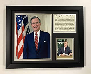Legends Never Die George H.W. Bush - Portrait - Framed 12