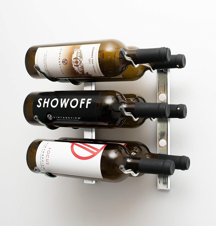 VintageView Popular Ranking TOP20 popular W Series 1 Ft - 6 Rack Wine Bottle B Wall Mounted
