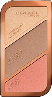 Rimmel London, Sculpting Face Palette, 02 Coral Glow, 18.5 g