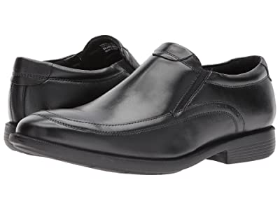 Nunn Bush Dylan Moc Toe Loafer with KORE Walking Comfort Technology (Black) Men