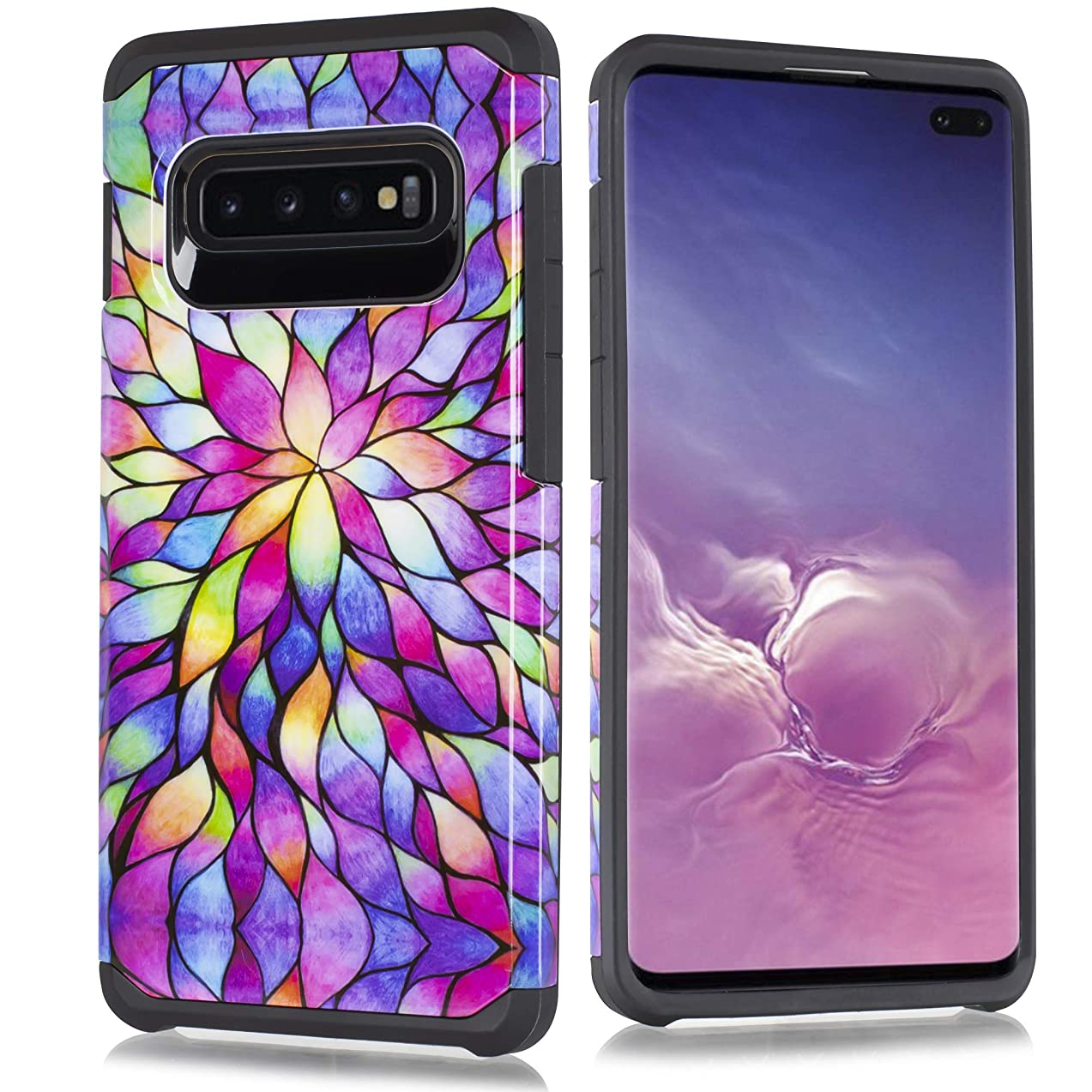 Compatible fit for Samsung Galaxy S10 Cute Heavy Duty Defender Fashion Shockproof Impact Resist Dual Layer Hybrid TPU Reinforced Galaxy STen 6.1