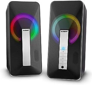 Stationära PC-högtalare, ELEGIANT 10W USB- och Bluetooth-högtalare för dator med kabel- och trådlöst läge, Multimedia Dual...