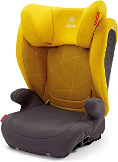 Diono Monterey 4DXT Latch, 2-in-1 Belt Positioning Booster Seat with Expandable Height/Width and 3-Layers of Protection, Yellow Sulfur