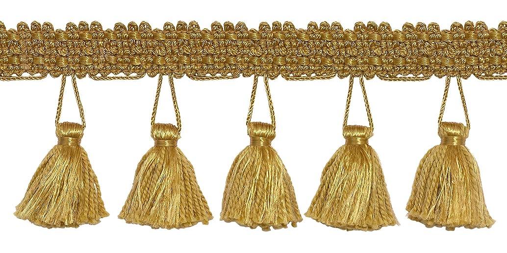 DecoPro 10 Yard Value Pack of 2.5 Inch Tassel Fringe Trim, Style# ETF Color: Gold - C4 (30 Ft / 9.1 Meters)