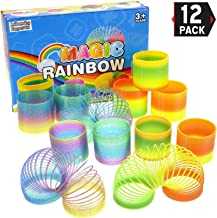 12 Pack Magic Rainbow Springs | Classic Novelty Colorful Rainbow Toy Assorted Bulk | Birthday Party Favors, Bag Fillers, Gift | Birthday Party Favors, Bag Fillers, Gift for Kids (1 Dozen)