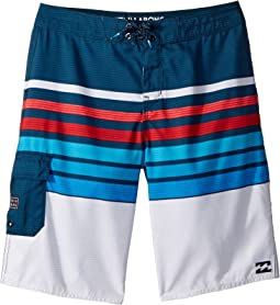 All Day OG Stripe Boardshorts (Toddler/Little Kids)