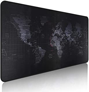 EFISH XX Large Gaming Mouse Map Pad 900×400×3MM (35.40X15.7X0.12 inch),with Non-Slip Base,Waterproof and Foldable Pad,Desk...