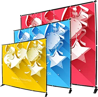 Display Factory USA 8' Telescopic Photography Banner Stand Step and Repeat Display Adjustable Backdrop Wall Trade Show Background Stand