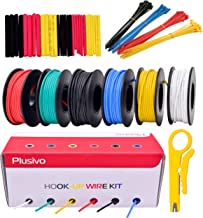 22GA Hook up Wire Kit - 22AWG Silicone Wire - 600V Tinned Stranded Electrical Wire of 6 Different Colors x 23 ft each - Bl...