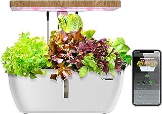 سیستم رشد هیدروپونیک VIVOSUN ، باغ گیاه با نور LED طیف ، پمپ آب گردشی و کنترل بی سیم برای جوانه زنی و کاشت داخل ساختمان