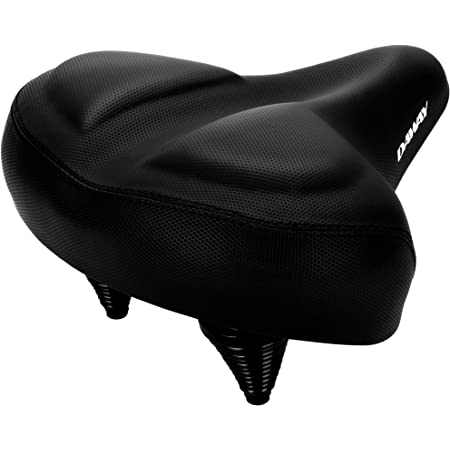 DAWAY Oversized Comfort Bike Seat - C40 Most Comfortable Extra Wide Soft Foam Padded Exercise Bicycle Saddle for Men Women Senior, Universal Fit for Cruiser, Stationary, Spin Bikes & Outdoor Cycling