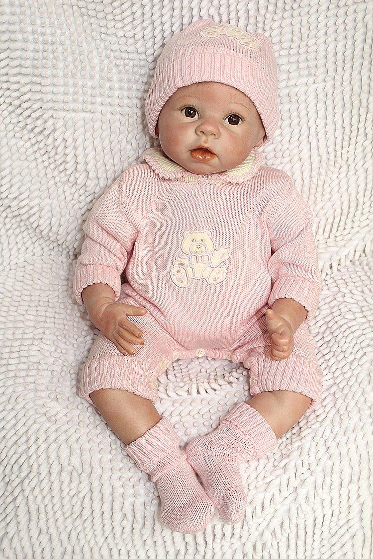 ZIYIUI 55cm Reborn Ropa Reborn Baby Doll Bear Patr/ón Ropa-Pantalones-Calcet/ín-Sombrero Adecuado para mu/ñecas Reborn de 22 Inch