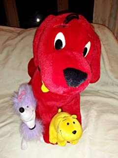 Clifford the Big Red Dog Large Plush with T-Bone and Cleo
