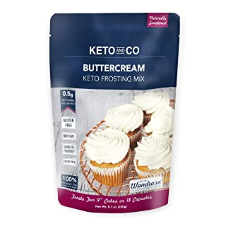 Buttercream Keto Frosting Mix by Keto and Co | Just 0.5g Net Carbs Per Serving | Gluten Free, Low Carb, No Added Sugar, Na...