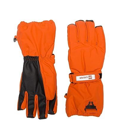 LEGO Kids Snow Gloves with Anti-Slip Grip Membrane (Little Kids/Big Kids) (Red) Over-Mits Gloves