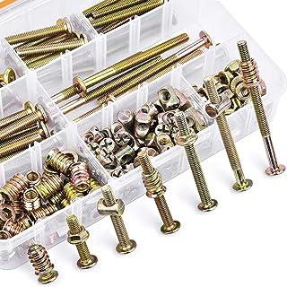 180PCS M6 x 20/30/40/50/60/70/80mm Bolts Nuts Kit Furniture Bolt Crib Screws Kit Hex Socket Head Cap Screws Nuts Barrel Bo...