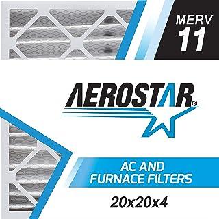 "Aerostar 20x20x4 Slim (19 1/2"" x 19 1/2"" x 3 3/4"") MERV 11, Allergen Protection Air Filter, 20x20x4 Slim, Box of 4, USA"