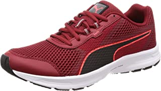 Puma Men Essential Runner Red Dahlia Black