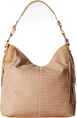 Basketweave Large Shoulder Bag