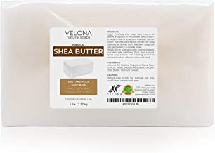 5 LB - Shea Butter - Melt and Pour Soap Base by Velona | SLS/SLES Free | Natural Bars for The Best Result for Soap-Making