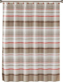 SKL Home by Saturday Knight Ltd. Coral Garden Stripe Fabric Shower Curtain, Tan