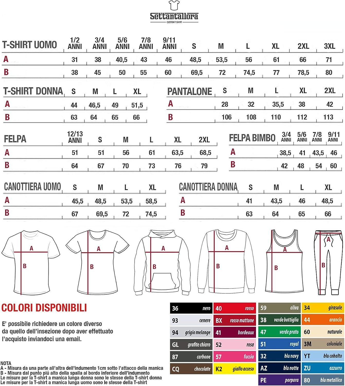 Settantallora T-Shirt Maglietta Manica Lunga Donna JCOV/_03 Modulo Autocertificazione Covid-19
