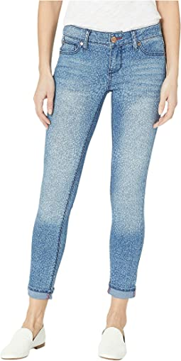 Zoe Skinny Ankle Pants in Blue Print