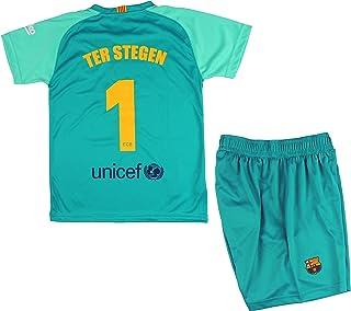 FCB Conjunto Camiseta y Pantalón Primera Equipación Infantil TER Stegen del FC Barcelona Producto Oficial Licenciado Temporada 2019-2020 Color Verde (Verde, Talla 8)
