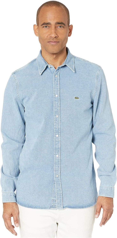 Lacoste Men's Long Sleeve Regular Fit Denim Woven Shirt