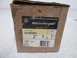 GE TED134060WL Bolt-On Mount Type TED Molded Case Circuit Breaker 3-Pole 60 Amp 480 Volt AC