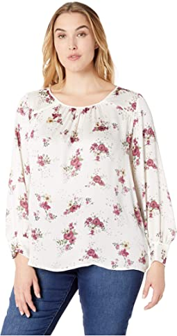 7c5095643668b Vince camuto specialty size plus size bell sleeve elegant botanical ...