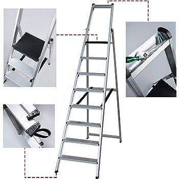 Escalera Ancha Soldada TORO (8 Peldaños). BTF-TJE508: Amazon.es: Bricolaje y herramientas