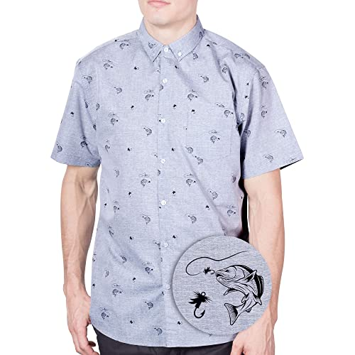 4d74cda3624 Visive Original Printed Short Sleeve Button Down Shirt Size Small - 4XL Big  Mens