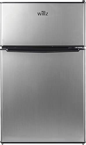 willz WLR31TS1 Compact Refrigerator, 3.1 Cu.Ft Fridge With Dual Door, Adjustable Mechanical Thermostat with True Free...