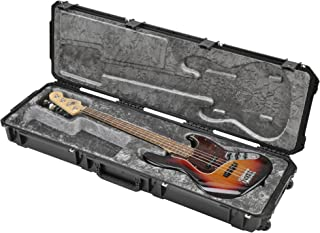 SKB Injection Molded Electric Bass Case, Plush Interior, TSA Latches, with Wheels (3i-5014-44)