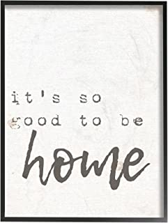 Stupell Industries Its So Good to Be Home Typewriter Typography Black Framed Wall Art, 11 x 14, Multi-Color