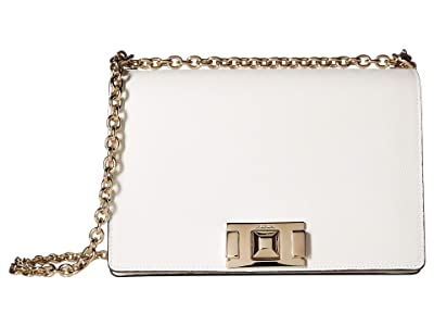 Furla Mimi Small Crossbody (Chalk) Handbags