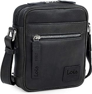 Lois - Bolso Bandolera Hombre Piel PequeñoGrande - Bolso de Hombro Hombre de Cuero Auténtico de Marca Lois - Bolsito Hombr...