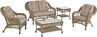 W Unlimited Saturn Collection 5 PCs Furniture Set Light Brown